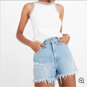 Madewell mom jean shorts size 26